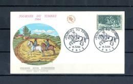 FRANCE  PJ  JOURNEE DU TIMBRE  14 . 3 . 1964 PARIS - Horses