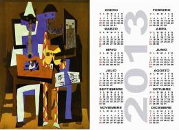 Calendar Pocket 2013 Picasso - 10 Differents Calendars 6,7x9,7 Cm. Aprox. - Calendarios