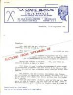 """Lettre De 1952 - BRUXELLES - """"LA CANNE BLANCHE"""" Section De Propagande De La LIGUE BRAILLE - Zonder Classificatie"""