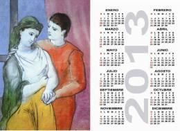 Calendar Pocket 2013 Picasso - 25 Differents Calendars 6,7x9,7 Cm. Aprox. - Calendarios