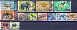 Kenia 1966 Tiere Lot  Mi.-Nr. 20 - 32 O - Kenia (1963-...)