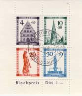 Baden 1949 - Blockausgabe 1 Gestempelt Und Gezähnt - Französische Zone