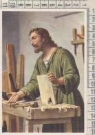 Gesù  Falegname  Ema  Timbro Rosso Ldc Libreria Dottrina Cristiana  Leumann Torino - Jesus
