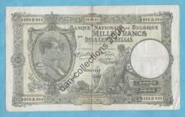 LOT B.F.M.*BELGIQUE* BILLET*1.000 FRANCS OU DEUX CENT BELGAS*29.09.41*TYPE *1919* - [ 2] 1831-... : Regno Del Belgio
