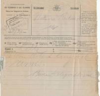 177/20 - Télégramme LILLE 1924 Vers Notaire à MELLE - Cachet De La Gare De MELLE à L' Arrivée - Télégraphes