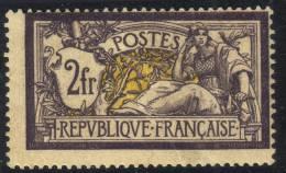 *PROMO* RARE 2Fr Merson Neuf * TB Et Signé BRUN (Y&T N° 122, Cote 950€) - 1900-27 Merson