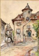 - 15 - CANTAL - Belle Peinture Sur SALERS 1938 ? - Non Classés