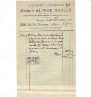 Quaregnon - 1925 - Maison Alfred Ruelle - Imprimerie & Lithographie - Printing & Stationeries