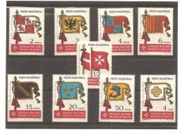 SMOM - Serie Completa Nuova: Antiche Bandiere Dell'Ordine - 1967 - Malte (Ordre De)