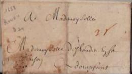 FRANCE: Précurseur 1658: De ROUEN Vers DOMFRONT.+ Texte. - Marcophilie (Lettres)