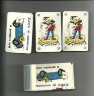 Jeu De Carte Publicitaire Cie Assurances Zurich Avec Photo D'une Ancienne Bugatti - Maps