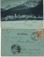 Vintage Card  Innichen Tirol Nach Velden Am Wörthersee Mondscheinkarte Um 1899 (442) - Österreich