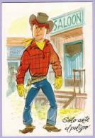 Vintage Post Card Cowboy Cartoon Drawing Comic Zeichnung (444) - Comicfiguren