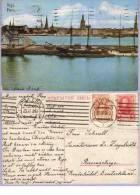 Vintage Post Card Riga Hafen Mit Segelschiffen 1913 Rollenstempel Riga (446) - Lettland