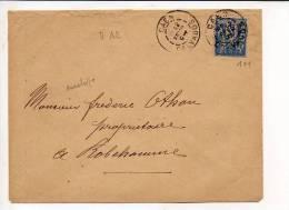 1897 - De Caen CAD Daguin Jumelé A2 Sur Sage N° 101 Pour Robehomme 14 / Dos CAD Bavent + Décédé - 1877-1920: Période Semi Moderne