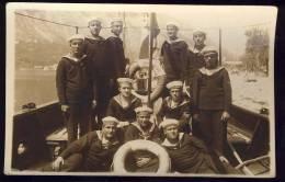 "ROYAL NAVY    SHIP "" MARLJIVI ""   R-6    &   R-1     YUGOSLAVIA    Old Postcard - Steamers"