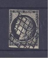 France - N° 3 Oblitéré - Oblitération Grille - C: 60,00 € - 1849-1850 Ceres