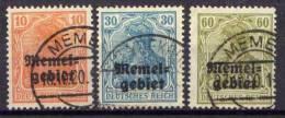 Memel 1920 Mi 14-16, Gestempelt [161212IV] @ - Memelgebiet