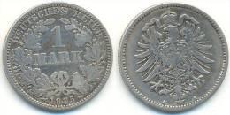 1 Mark 1875 A, Kaiserreich, Kleiner Adler, Silber - [ 2] 1871-1918: Deutsches Kaiserreich