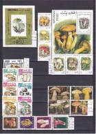 FLORA World Wide, Plants, Flowers, Mushrooms, Fruits, Over 219 Stamps - Sammlungen (im Alben)