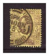 GRANDE BRETAGNE Yv 111 Edouard 7 3p - Used Stamps