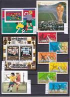 SOCCER World Wide, 28 Full Sets Or Miniature Sheets, Over 103 Stamps - Sammlungen (im Alben)
