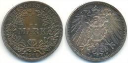 1 Mark 1914 A, Kaiserreich, Adler, Silber - [ 2] 1871-1918: Deutsches Kaiserreich