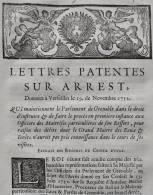 DOCUMENT 1752 LOUIS XV EAUX & FORETS GRENOBLE DAUPHINÉ BURLET HAUTERIVE LETTRES PATENTES SUR ARREST LOI - Documents Historiques