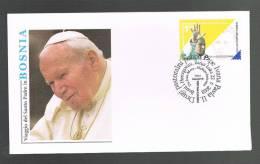 GIOVANNI PAOLO II - VISITA IN BOSNIA - ANNULLO SPECIALE 22.6.2003 - BUSTA - - Papi