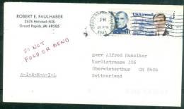 Lettre  De  Grand Rapids Pour La Suisse En 1985 - Bb12508 - United States