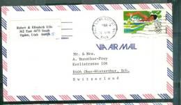 Lettre Pour La Suisse Oblitéré Salt Lake City En 1984 - Bb12524 - United States