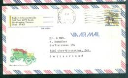 Lettre Pour La Suisse Oblitéré Salt Lake City En 1980 - Bb12525 - United States