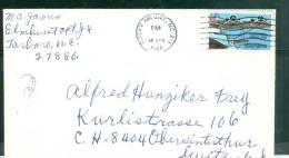 Lettre Pour La Suisse Oblitéré Rocky Mount  En 1987- Bb12526 - Stati Uniti