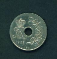 DENMARK  -  1968  25 Ore  Circulated As Scan - Denmark