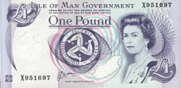ISLE OF MAN - ONE POUND    UNC   C8P2 - Isle Of Man / Channel Island