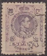 España 1909-22 Edifil 273 Sello º Alfonso XIII 20c Tipo Medallon Numero De Control Al Dorso Spain Stamps Timbre Espagne - Usados