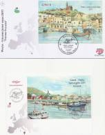 2011 Joint  Iceland And Malta, Both FDC's: Fishing Villages - Joint Issues