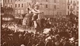CPA Sépia - CHALON Sur SAÔNE (71) - Fêtes De Carnaval 1935 - L'Âge Des Cavernes - S. M. Carnaval XXII - Chalon Sur Saone