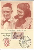 Journée Du Timbre - Amicale Philatélique Vieux Charmont - 16 03 1963 - Pays De Montbéliard -sourire De Nos Aieux - 1960-1969