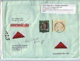 026zg: ATM- Nachnahmebeleg Mit 28.00 ÖS Portogerecht - 1945-.... 2ème République