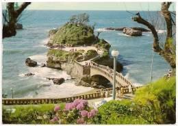 9A - BIARRITZ - Le Rocher Du Basta - Animée - Circulée 1975 - Scan Recto-verso - Biarritz