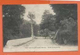 Q595, Giey - Sur - Aujon, Animée, Char De Foin Tiré Par Un Cheval,Route De Bugnières, Circulée 1937 Timbre Décollé - Other Municipalities