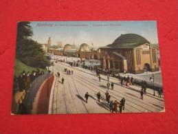 Hamburg , St. Pauli Landungsbrucken. Eingang Zum Elbtunnel 1913 Animated - Duitsland