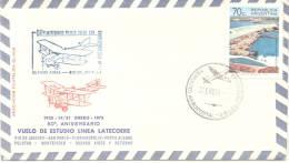 50 ANIVERSARIO DEL PRIMER VUELO CON CORRESPONDENCIA AEREA BUENOS AIRES RIO DE JANEIRO ARGENTINA AÑO 1975 SPECIAL COVER - Vliegtuigen