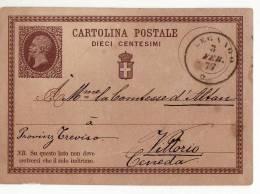 8571 VERONA LEGNAGO X VITTORIO CENEDA 1877 - 1861-78 Vittorio Emanuele II