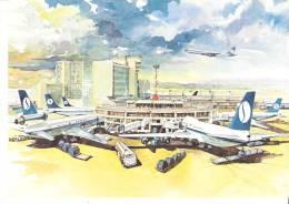 Bruxelles-Brussels National Airport-SABENA-Belgian World Airline- Boeing 707-737-747-Mc Donnell Douglas DC-10 - Bruxelles National - Aéroport