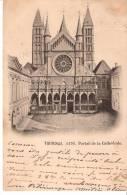 Tournai (Hainaut)-1919-La Cathédrale-La Porte Mantille- Oblitération De Moescroen-Mouscron- Envoi S.M. (voir Scan) - Tournai