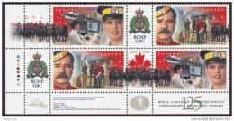 Canada  Police Gendarmerie RCMP  GRC Horses  Lower Left INSCRIPTION  BLOCK1998