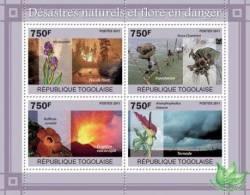 TOGO 2011 MNH** - Disasters & Endangered Flora - YT 2388-91 - Plants