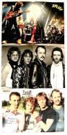 3 Kleine Poster  Musik-Gruppe Spliff - Rückseiten : Mr. Spock - Erika Hess - Oliver Tobias , Von Pop-Rocky / Bravo 1982 - Manifesti & Poster